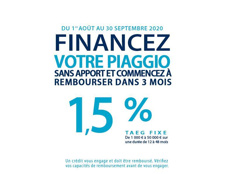 La gamme Piaggio à taux 1,5%